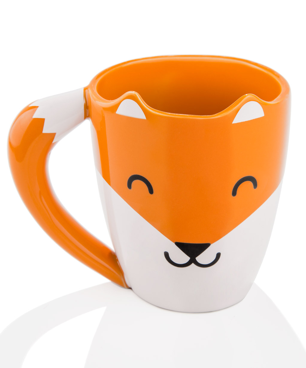 fox mug cute drinkware that looks like a smiling fox. Black Bedroom Furniture Sets. Home Design Ideas