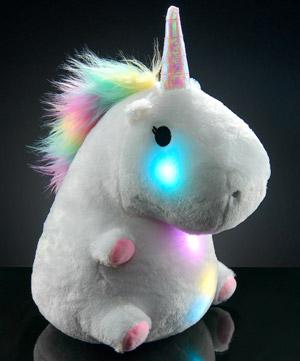 Glowing Unicorn Pillow A Plush Unicorn That Emits A