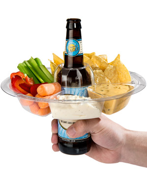 The GoPlate  sc 1 st  Vat19.com & The GoPlate: Reusable Party Plate Doubles as Drink Holder