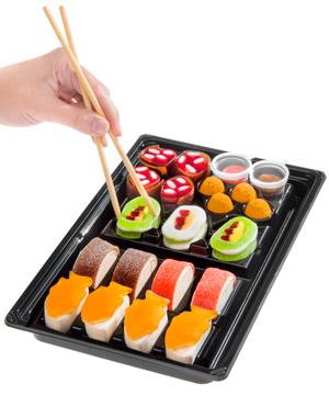 Candy Sushi A Tray Of Colorful Candy Shaped Like Sushi