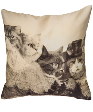 Meownt Rushmore Pillow