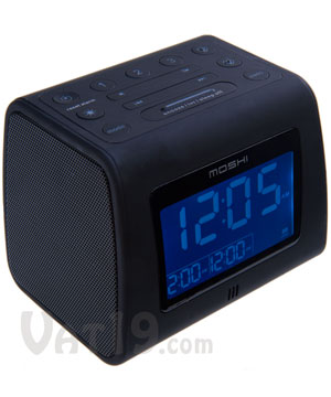 moshi digital alarm clock radio voice activated am fm digital clock radio. Black Bedroom Furniture Sets. Home Design Ideas