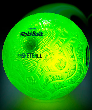 Nightball Basketball: Inflatable ball with motion-activated LEDs.
