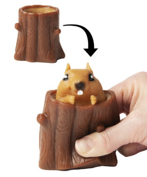 Peek-A-Boo Squirrel Toy
