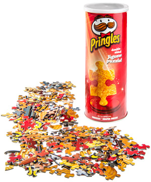 Pringles Puzzle A Jigsaw Puzzle Styled Like A Can Of