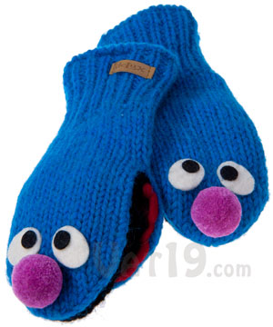 2e6bac8caed Sesame Street Knit Wits  Hats and Mittens that look like Sesame ...