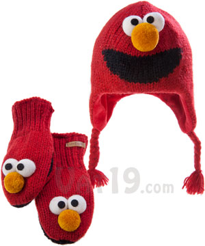 Sesame Street Knit Wits  Hats and Mittens that look like Sesame Street ... b020b26a302