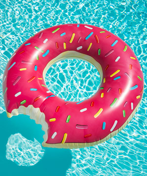 Donut Pool Float Relax in the most gluttonous pool float imaginable
