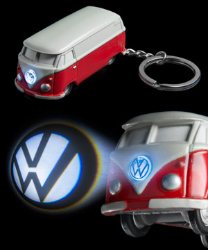VW Bus Keychain Light