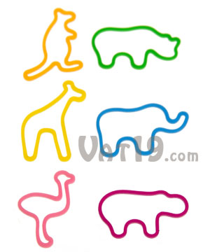 Zoo Animal Rubber Bands