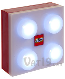 Red LEGO® Portable LED Brick Light