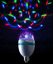 Rotating Disco Light Bulb