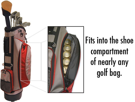 The Covert Cooler Fits Into Shoe Compartment Of Nearly Any Golf Bag