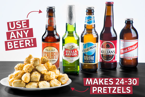 Use any beer to make 24-30 pretzels!