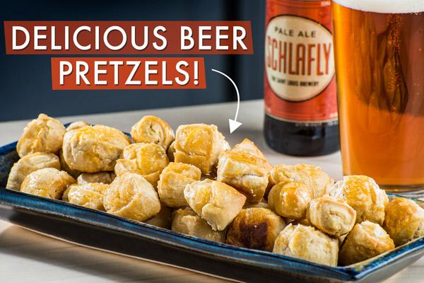 Delicious beer pretzels!