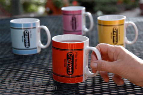 enjoy a delicious cup of coffee in your colorful crayon mugs - Colorful Mugs