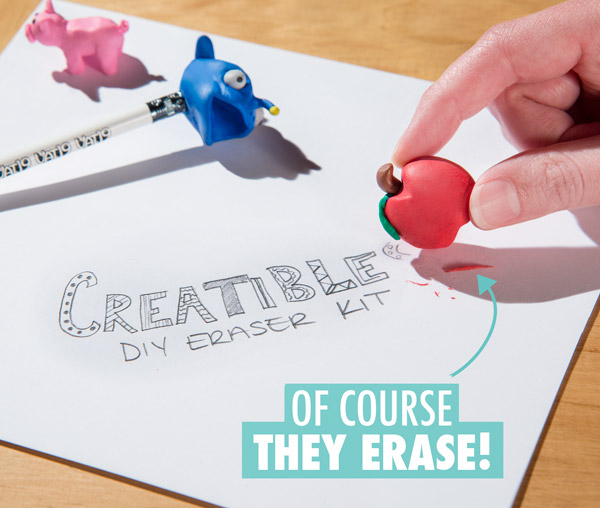 They are works of art and totally usable erasers!