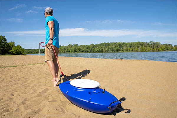 Creek Kooler can be used on the lake, beach, or pool