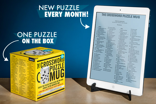 Visit the website to find a new puzzle for your Crossword Mug each month.