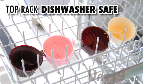 Cupcase Cupcake Holders are top rack dishwasher safe