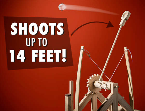 Shoots up to 14 feet!