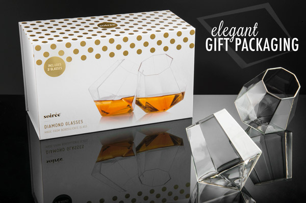 Diamond Glasses come gift boxed.