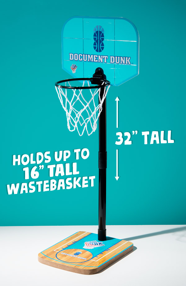 Wastebasket basketball hoop