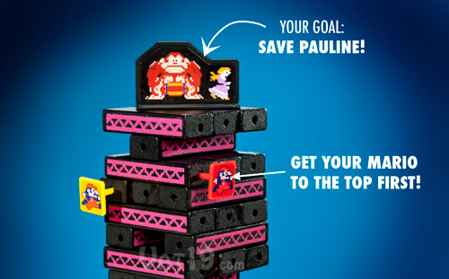 Your goal is to be the first to get your Mario to the top of the tower.
