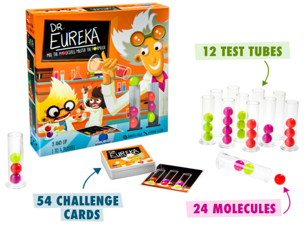 12 test tubes, 24 molecules, 54 challenge cards