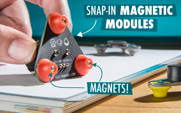 Snap-in magnetic modules