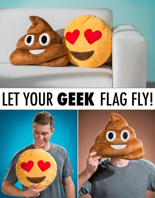 Emoji Pillows: Huggable Emojis in Pillow Form