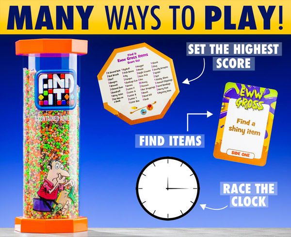 Find items, set the highest score, or race the clock...many ways to play!