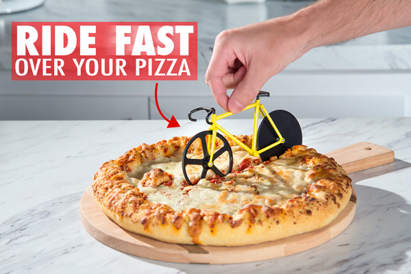 Ride fast over your pizza