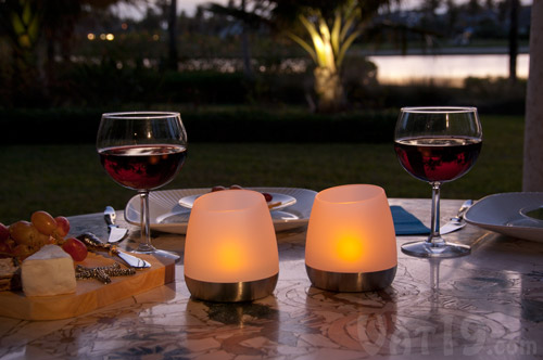 Flip 'n Charge Outdoor LED Flickering Candles