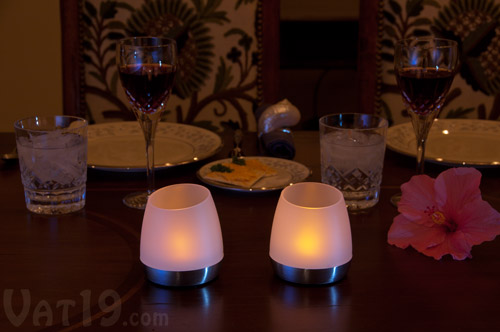 Flip 'n Charge LED Candle Lights are perfect for indoor settings as well as outdoors.
