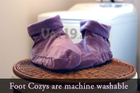 Foot Cozy heated slippers are machine washable