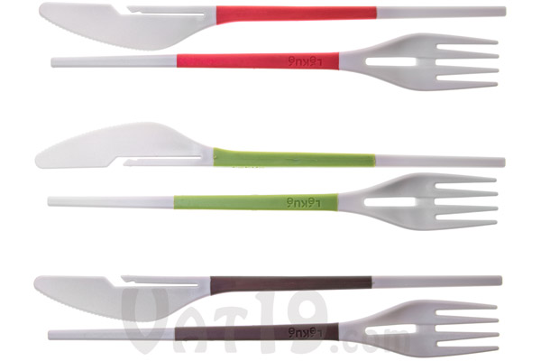 Fork and Knife Chopsticks are available in a variety of colors.