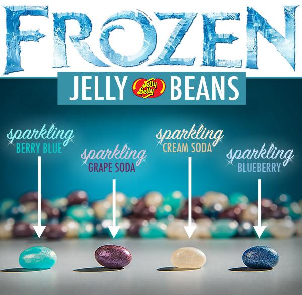 Disney's Frozen Jelly Beans consist of four sparkling flavors.