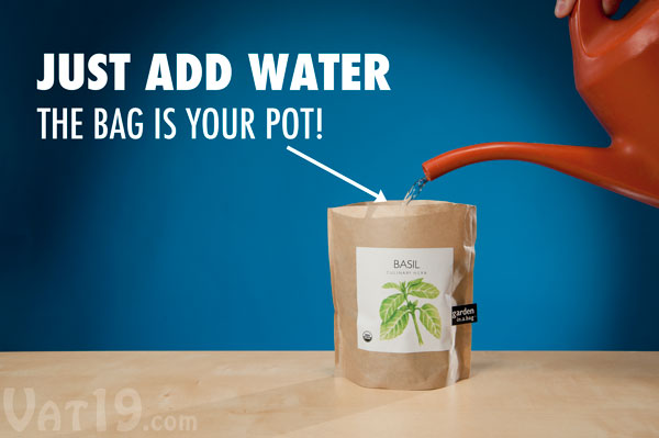 Simply add water to the leak-proof Garden-in-a-Bag