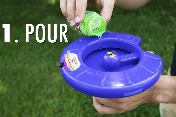 As easy as: pour, pull, and launch!