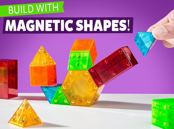 Build with magnetic shapes!