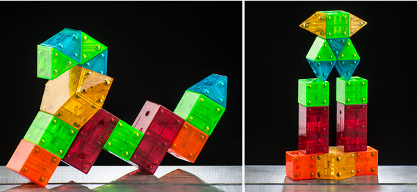 Endless possibilities with Geomatrix magnetic building blocks.