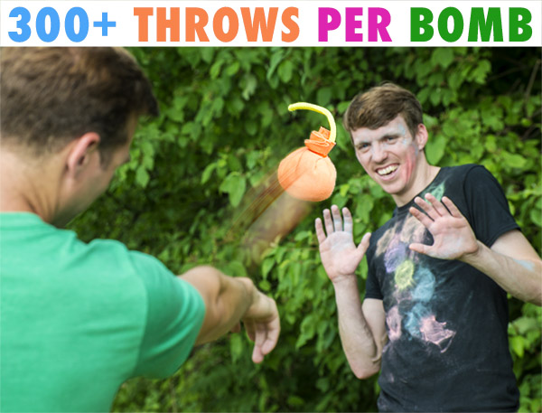 Throwing a chalk bomb at a friend