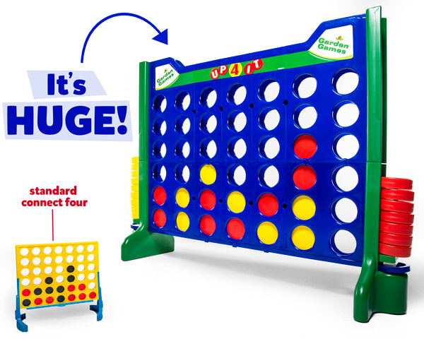 Compared to a standard Connect Four board, it