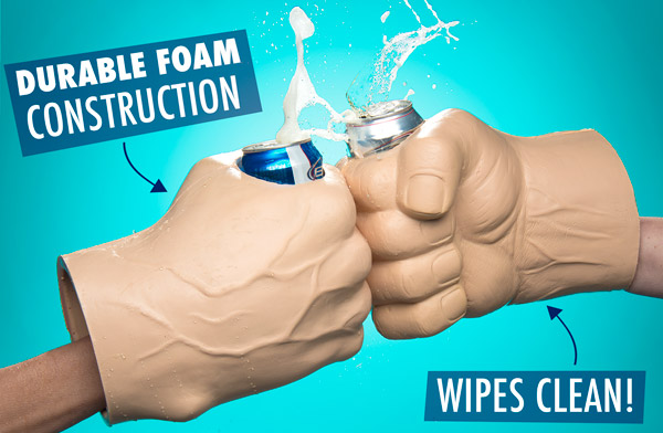 Durable foam construction...wipes clean!