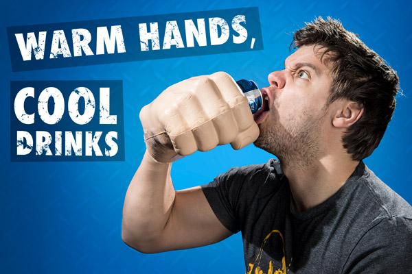 Warm hands, cool drinks