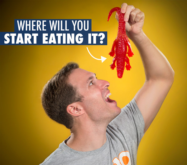 Where will you start eating it?