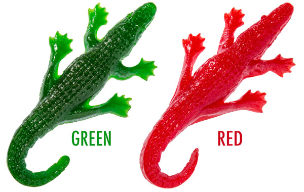 Giant Gummy Gators are available in cherry and apple.