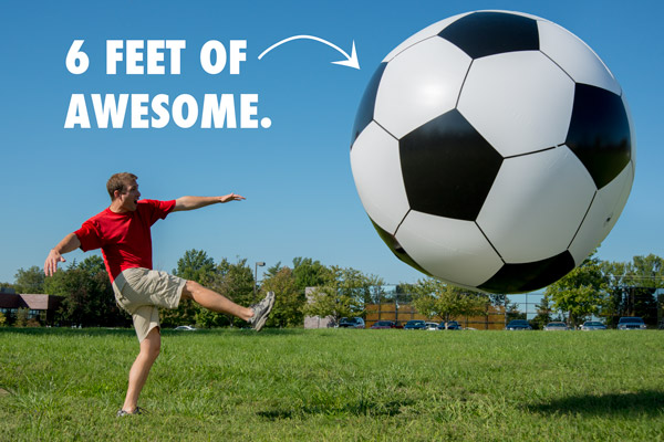 Gigantic blow-up soccer ball.