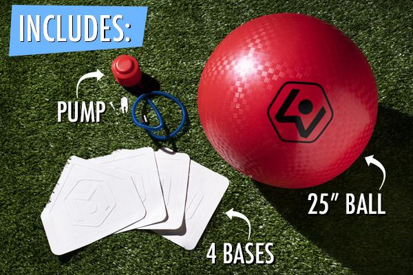Giant Kickball Set contents